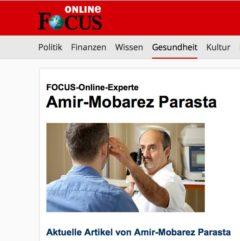 Dr. Parasta vom Augenzentrum in München ist FOCUS-Online Experte rund um das Thema Augen und besser sehen