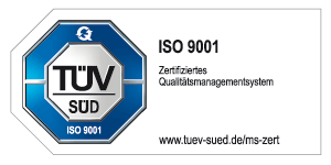 TÜV geprüft ISO 9001:2015