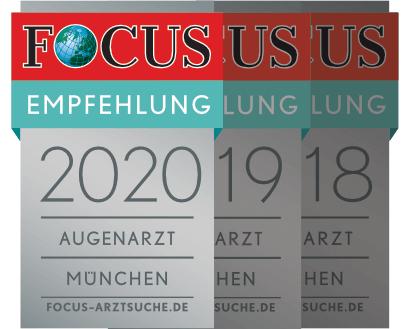 Focus Siegel 2020 - Augenarzt Empfehlung München Dr. Amir-Mobarez Parasta