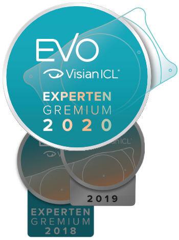 ICL Experten Gremium Siegel 2018,2019 und 2020 für Dr. Parasta, Augenzentrum München