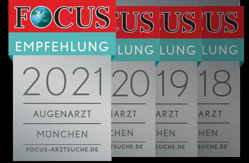 Focus Augenarzt Empfehlung 2021